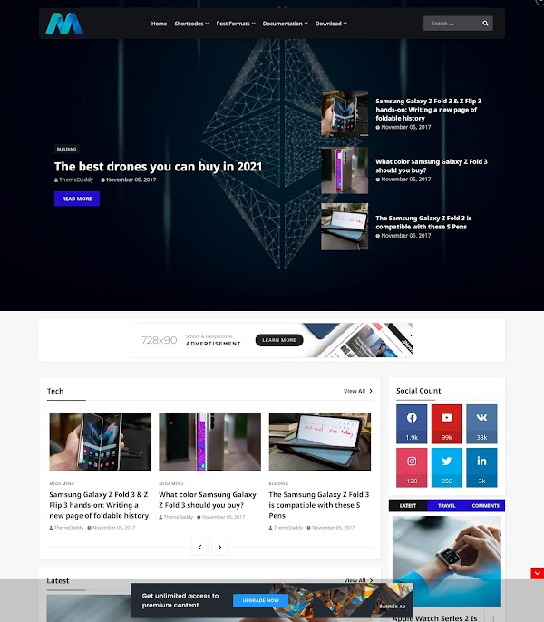 Magzify Blogger Template