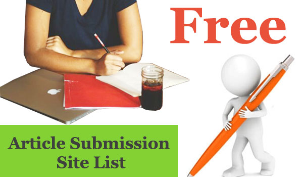 Top High PR Free Article Submission Site List for Off Page SEO