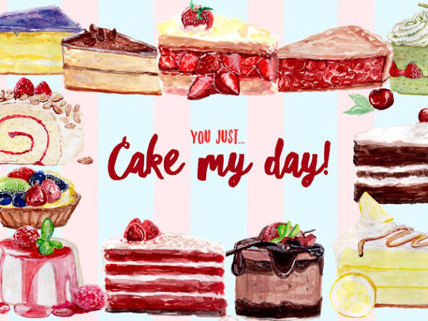 Download Cake My Day Watercolor Elements Free
