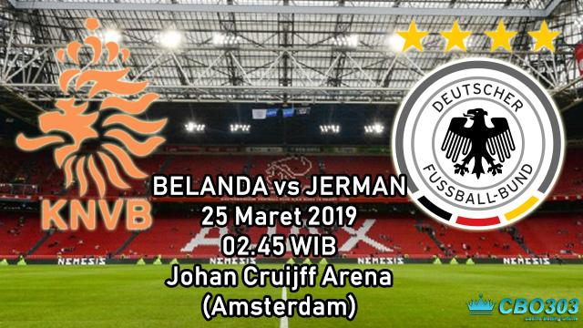 Prediksi Tepat Kualifikasi Piala Eropa Belanda vs Jerman (25 Maret 2019)