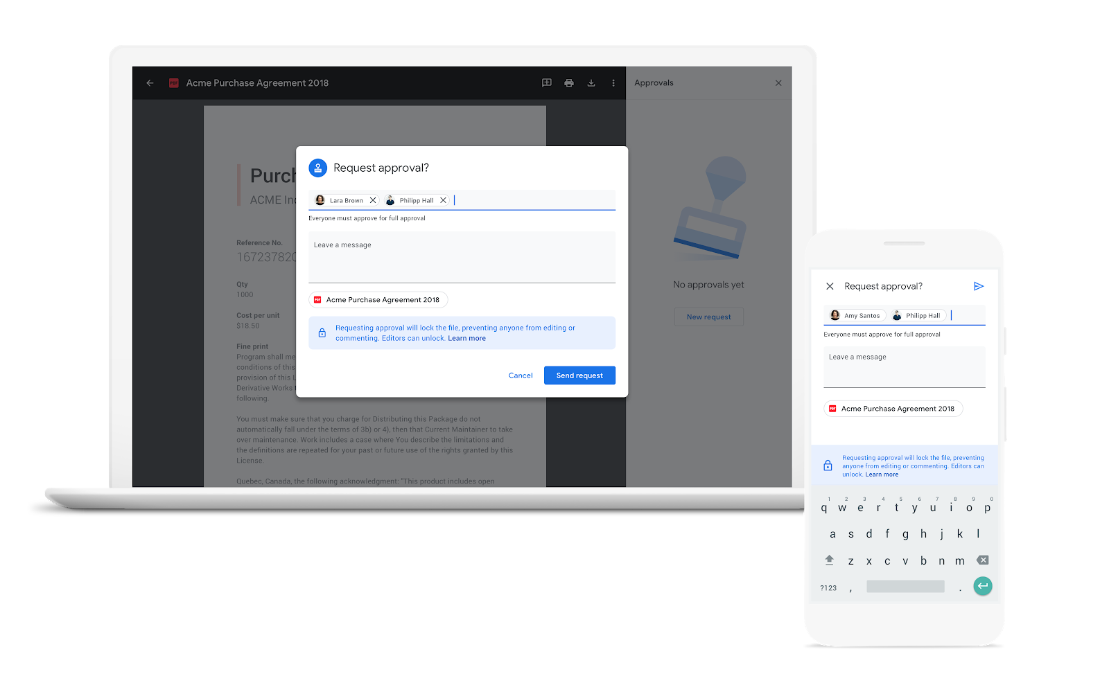 G Suite Updates Blog: Request and review formal document approvals