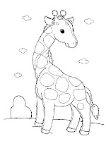 Giraffe Baby Printable Animal Kids Coloring Sheet