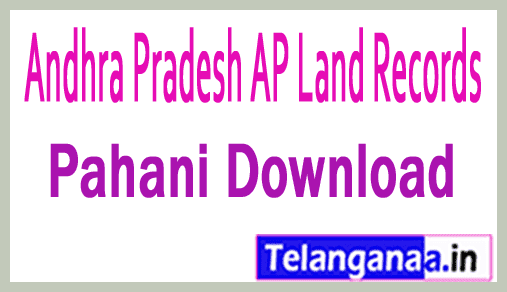 Andhra Pradesh AP Pahani Download at meebhoomi
