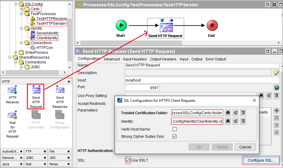 Configure SSL Certificates in TIBCO BW HTTP Client and Server