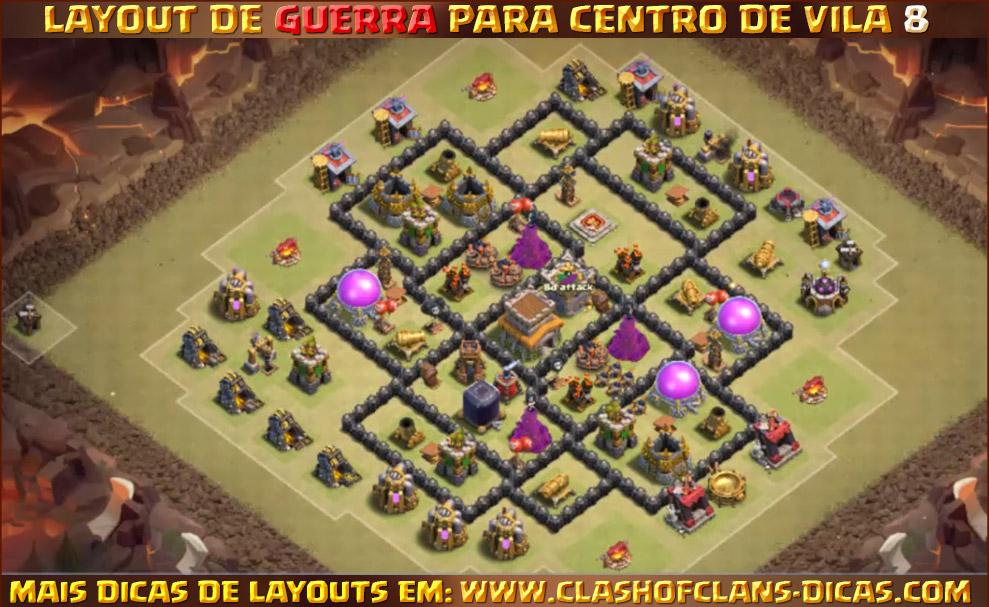 Layouts De Centro De Vila 8 Para Guerra Clash Of Clans Dicas