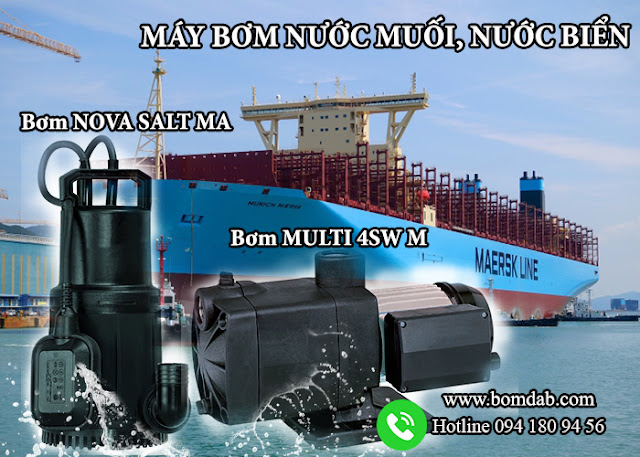 Máy bơm nước muối chuyên dụng cho tàu biển - Bơm NOVA SALT MA và MULTI 4SW M