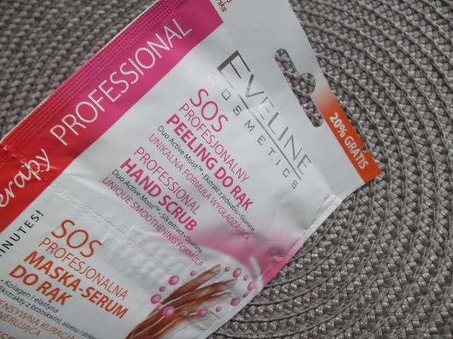 EVELINE SOS Profesjonalny peeling + maska serum do rąk