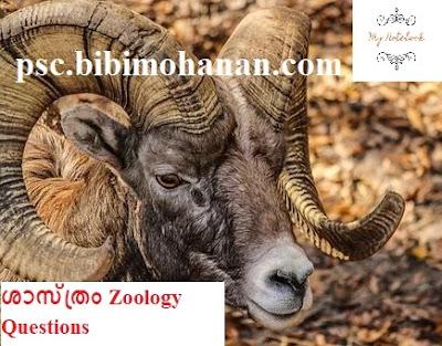 ജന്തു ശാസ്ത്രം Zoology Questions ജീവ ശാസ്ത്രം Biology LDC, LGS  Kerala PSC Thulasi
