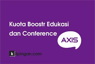 Kuota Boostr Edukasi dan Conference