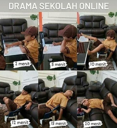 10 Meme Lucu 'Sekolah Online' Ini Bikin Stres Murid dan Guru
