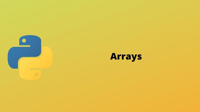 HackerRank Arrays solution in python