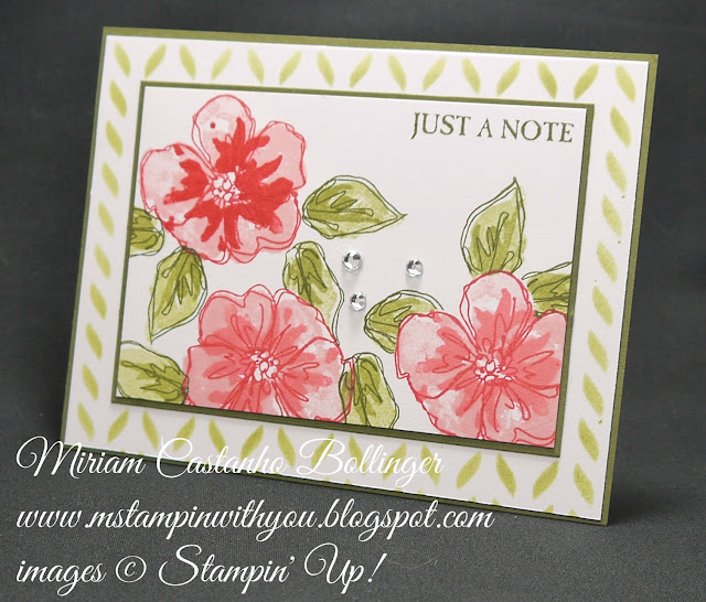 Miriam Castanho-Bollinger, #mstampinwithyou, stampin up, demonstrator, dsc, all occasions card, penned & painted stamp set, picture perfect stamp set, seasonal decorative masks, su