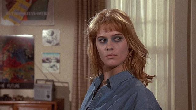 Kristy Swanson newly back from the dead in DEADLY FRIEND.