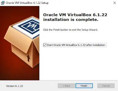 Finish Install Virtualbox