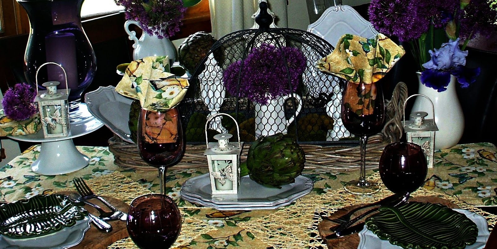 Garden Cloche Tablescape