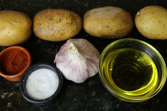 Ingredientes para patatas chorizadas