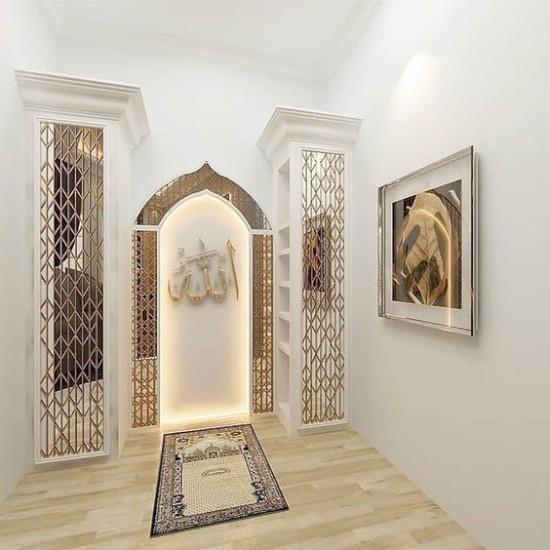 desain mushola minimalis di dalam rumah
