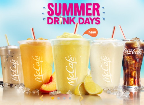 Mcdonalds $1 Fountain Drinks Summer Drinks Days