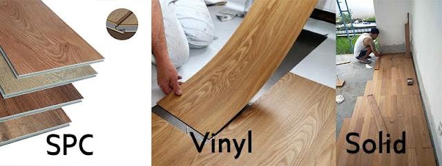 perbandingan cara pasang Lantai SPC vinyl dan lantai kayu solid