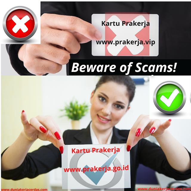 Beware of Scams! Ignore Click prakerja. vip, Registration of Pre-Employment Cards Still at prakerja. go. id