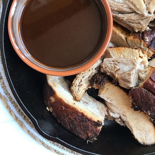 geschmorte Dicke Rippe mit Malzbier-Kümmel-Sauce