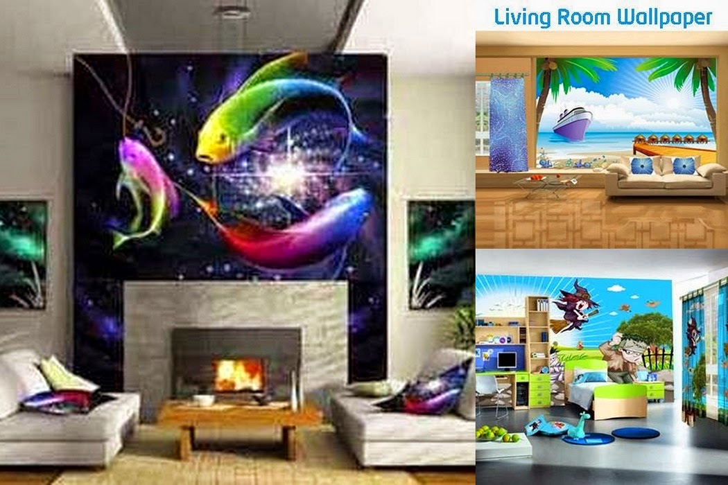 Bring Life To The Walls With Living Room Wallpapers