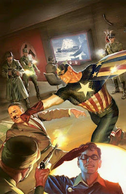 Marvel Comics Captain America versus Hitler