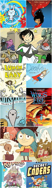 list of great graphic novels for elementary school kids