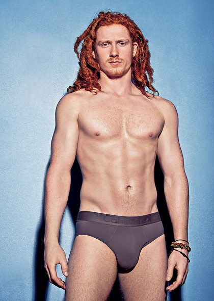 Red headed hunk in underwear