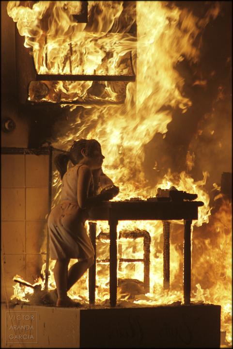 fotografia,fallas,ninot,fuego