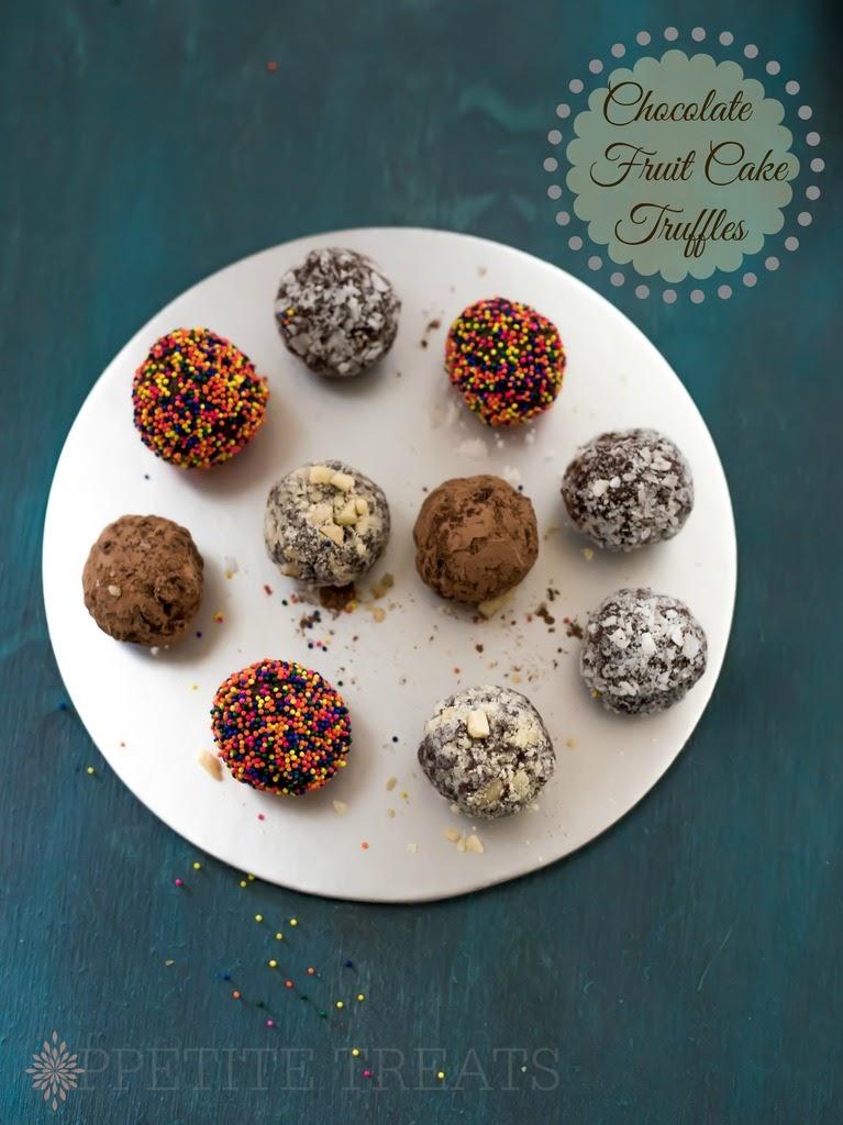 CHOCOLATE FRUIT CAKE TRUFFLES