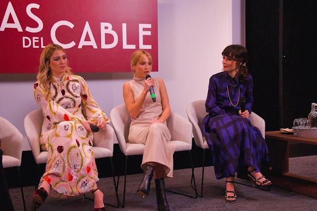Blanca Suárez, Ana Fernández y Nadia De Santiago en la presentación de la última temporada de Las chicas del cable.