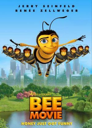 Poster Of Bee Movie In Dual Audio Hindi English 300MB Compressed Small Size Pc Movie Free Download Only At worldfree4u.com