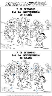 Resposta - Jogo dos 7 Erros - Dia 7 de setembro - Dia da Independência do Brasil