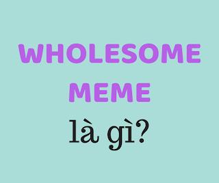 wholesome meme là gì