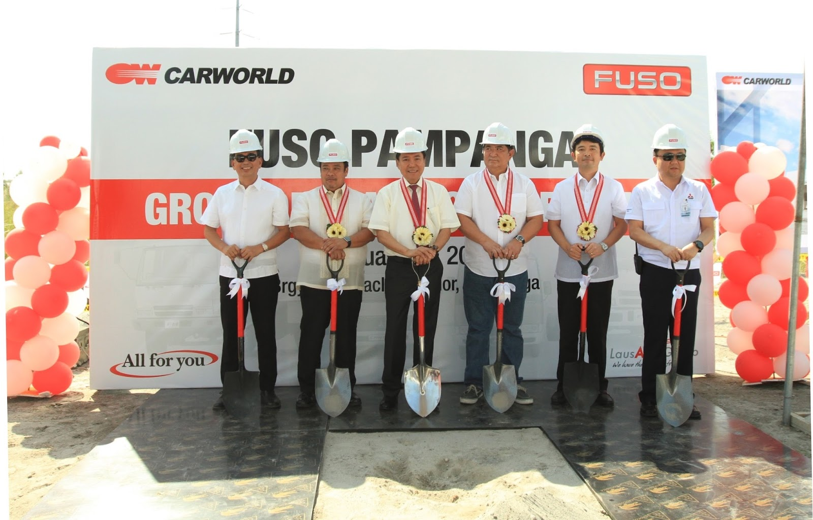 Carworld, Inc. Breaks Ground for FUSO Pampanga