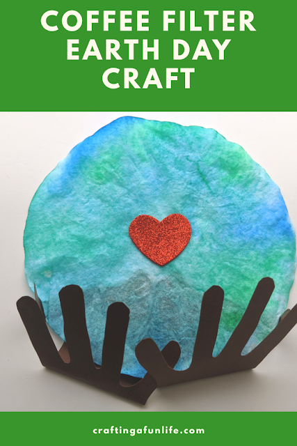 coffee filter Earth Day craft for kids