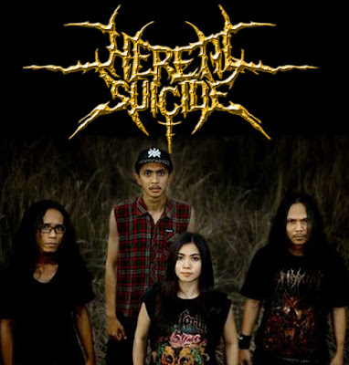 Download mp3 Heretic Suicide Band Death Metal Purwokerto - Jawa Tengah female vocal vokalis cewek logo font artwork
