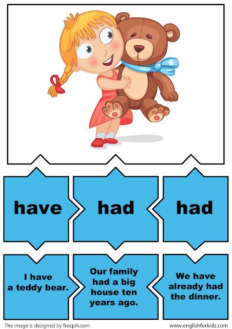 esl verb puzzle game irregular verb have