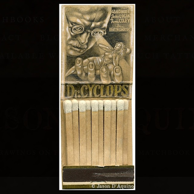 15-Doctor-Cyclops-Jason-D-Aquino-Miniature-Vintage-Match-Book-Drawings-www-designstack-co