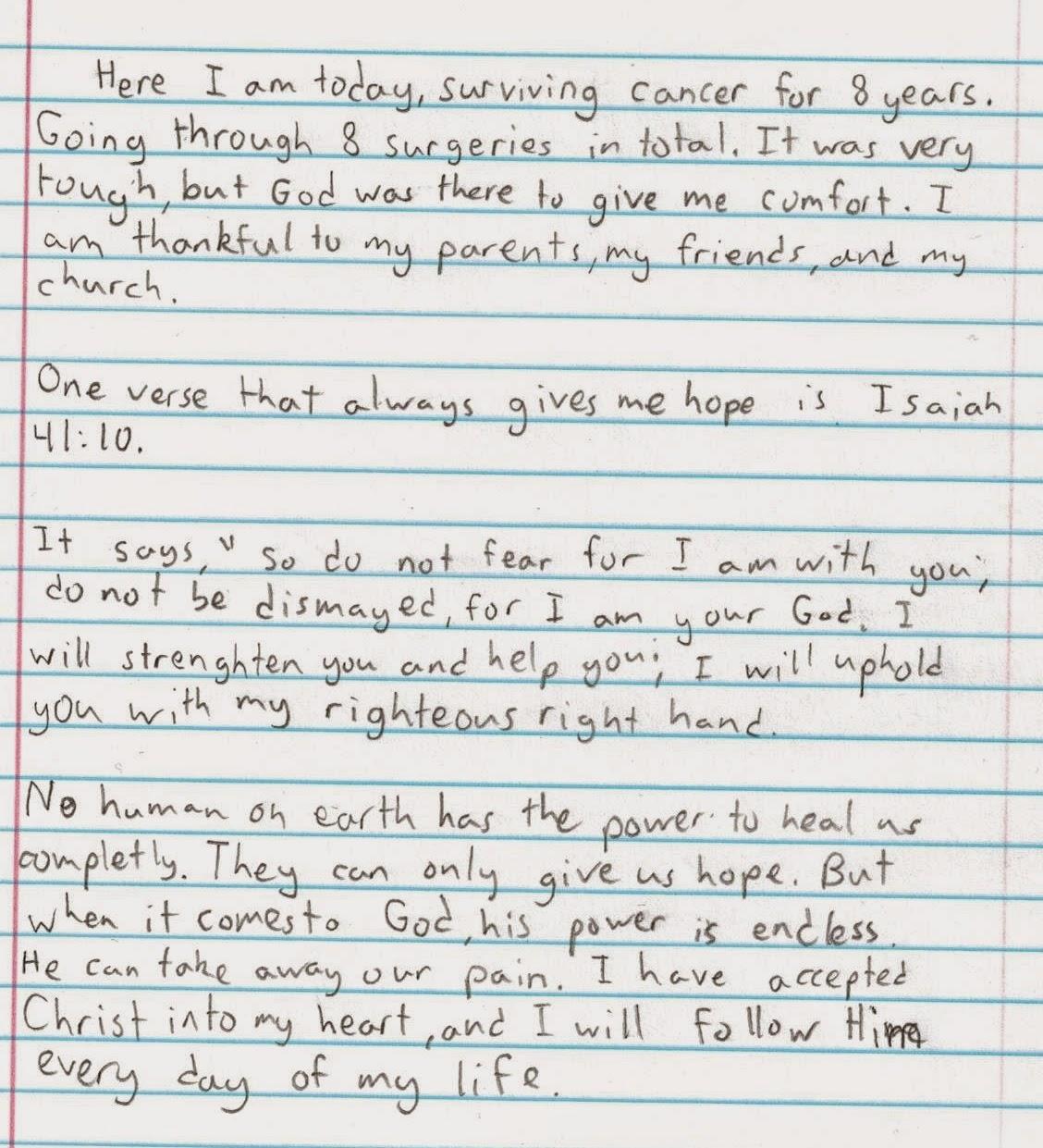 How to write a christian testimonial