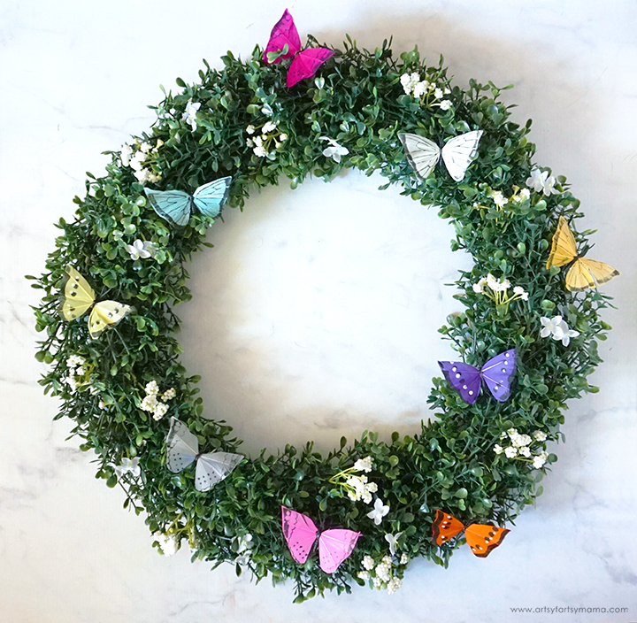 Butterfly Boxwood Wreath