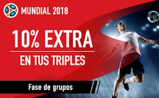 sportium Promocion Triples Grupos del Mundial 2018