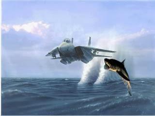 Great White Shark Downs Jet Fighter