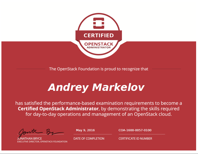 Andreys Blog Quick Info And Tips For Certified Openstack