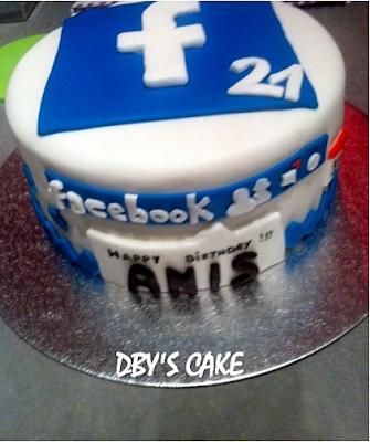 Gâteau Facebook