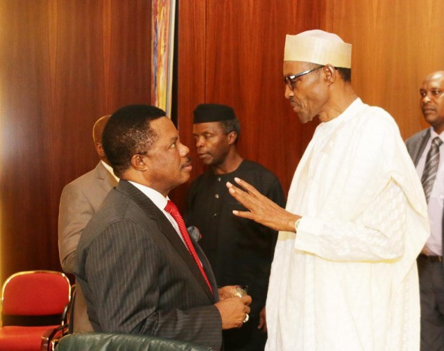 Image result for Buhari and Obiano