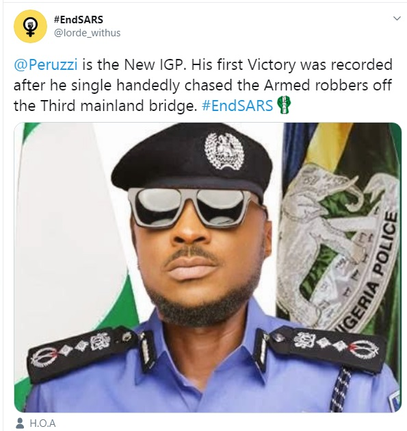 Is Peruzzi Now A Police Officer? Check Out His Latest Profile Photo