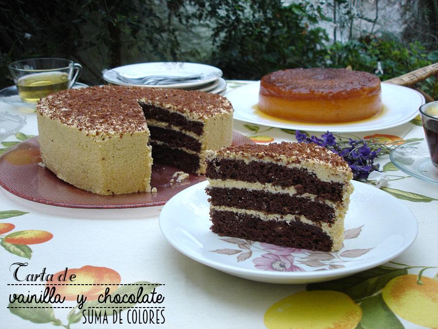 Tarta de vainilla y chocolate 03