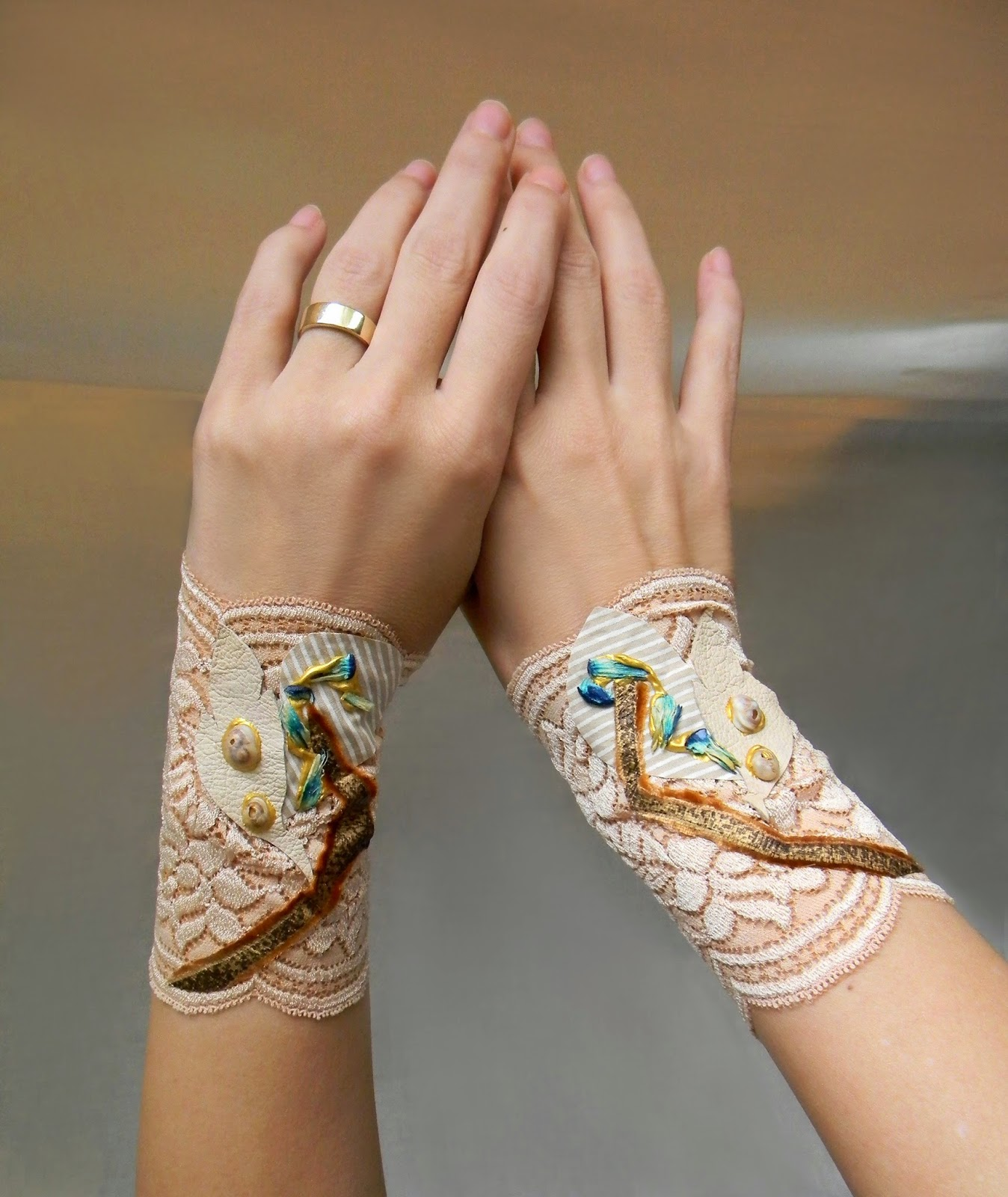 Floral Lace Romantic Wrist Cuffs